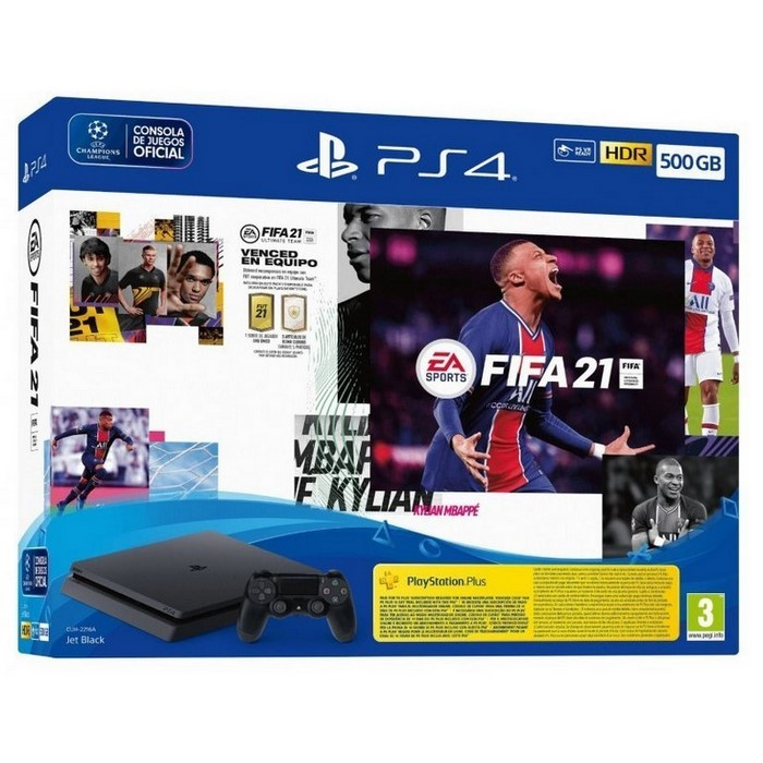 PLAYSTATION 4 500GB + JUEGO FIFA21 + 1 MANDO