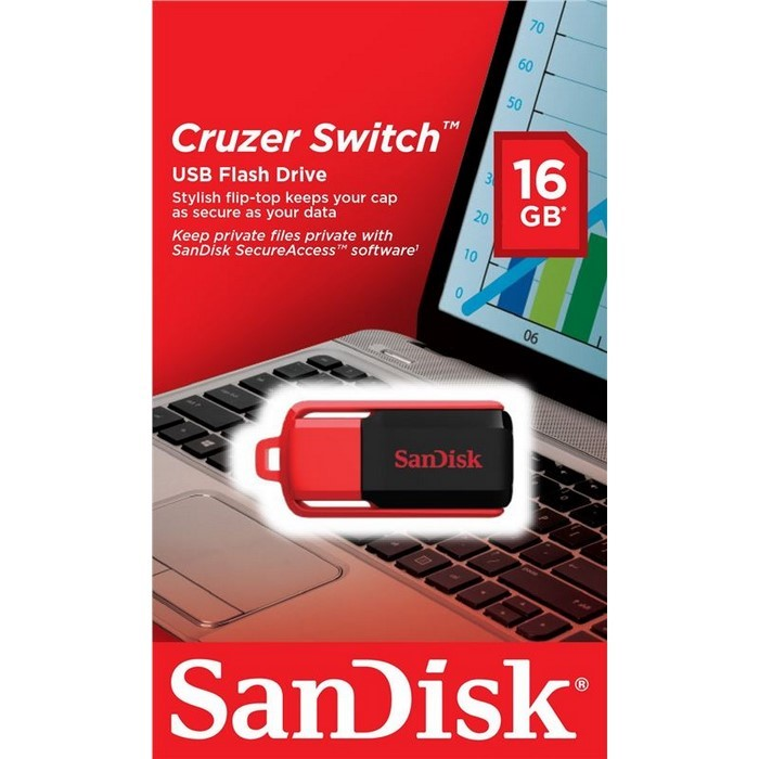 PENDRIVE 16GB CRUZER SWITCH (SANDISK)